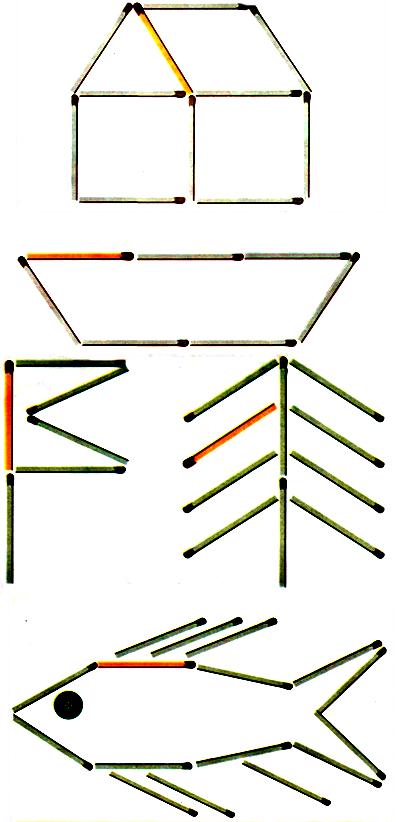 Игры со счетными палочками или спичками