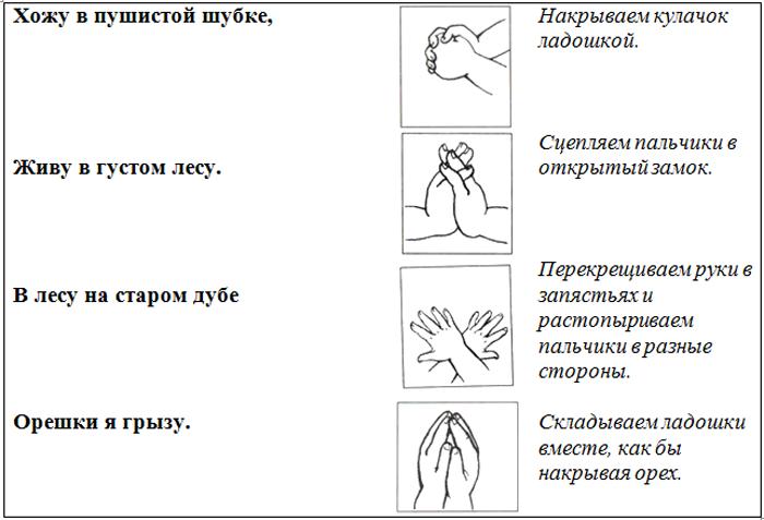 Пальчиковая гимнастика «В лесу»