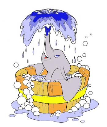Про слоненка, который любил купаться