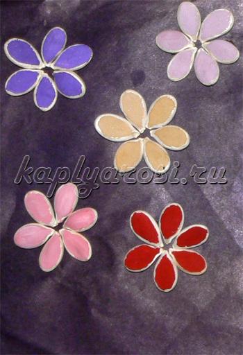 Цветы из тыквенных семечек
