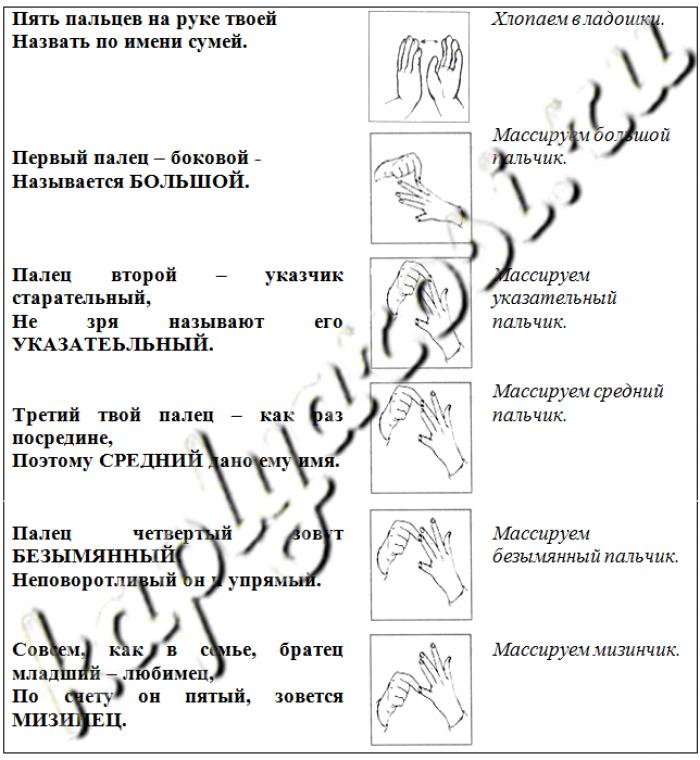 Пальчиковая гимнастика «Братцы   пальчики»