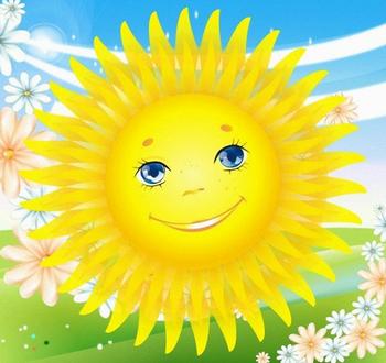 Аппликация картинки солнышко