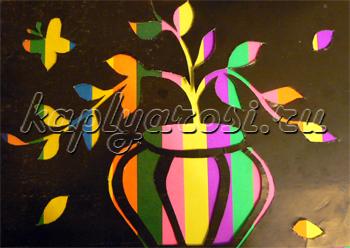 Натюрморт   черное и цветное